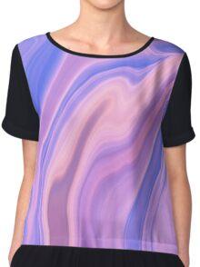 Trippy Purple Wave Chiffon Top