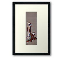 Vintage famous art - Hokusai Katsushika - Two Beauties Framed Print