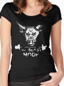 Go Beast Mode Women's Fitted Scoop T-Shirt