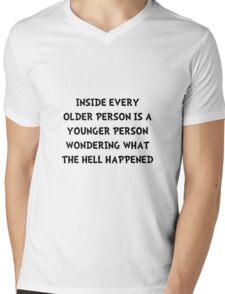 Older Younger Person Mens V-Neck T-Shirt