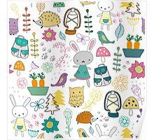 Children's cartoon pattern Poster