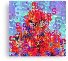 Superhero Type Font Series - Abstract Spider Pop Art Comic Canvas Print