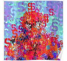 Superheros Type Font Series - Abstract Spider Pop Art Comic Poster