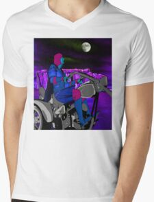 Night Rider Mens V-Neck T-Shirt