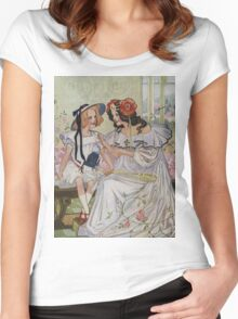 Vintage famous art - Dorothy And The Wizard Of Oz  - Now I Begin To Understand,  Said The Princess Women's Fitted Scoop T-Shirt