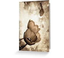 Vintage Flowers Sepia-Black-White Greeting Card