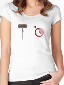 Screw It!  Red wine will fix it! Women's Fitted Scoop T-Shirt