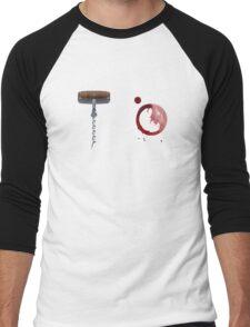 Screw It!  Red wine will fix it! Men's Baseball ¾ T-Shirt