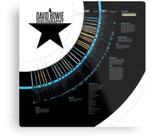 David Bowie Discography Infographic Metal Print