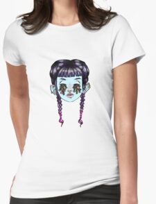 Drippy eyed blue girl Womens Fitted T-Shirt