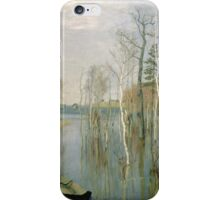 Vintage famous art - Isaak Levitan - Spring, High Water iPhone Case/Skin