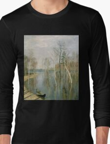 Vintage famous art - Isaak Levitan - Spring, High Water Long Sleeve T-Shirt