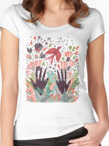 Spring Bird  Women's Fitted Scoop T-Shirt