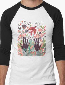 Spring Bird  Men's Baseball ¾ T-Shirt