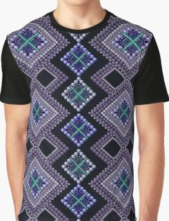 Seamless pattern modern texture abstract background with beads textile, print in boho folk etno style Graphic T-Shirt