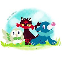 Sun and Moon Starters Photographic Print