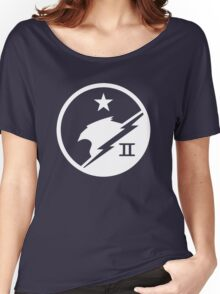 Blue Team White Women's Relaxed Fit T-Shirt