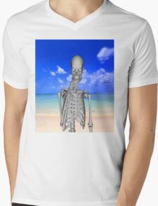 Robinson Crusoe Mens V-Neck T-Shirt
