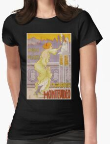Vintage famous art - J. Borro - Montevideo Cigarrillos Poster Womens Fitted T-Shirt