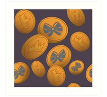 LadyLANparty Gold Coins Art Print