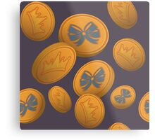 LadyLANparty Gold Coins Metal Print