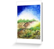 In the Valley Below Greeting Card