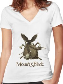 Blade, axe and shield Women's Fitted V-Neck T-Shirt