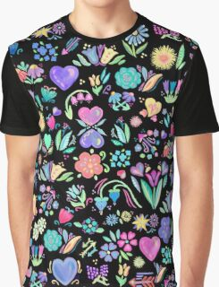 Bright Floral Delight Graphic T-Shirt