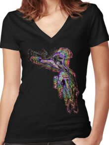 Handsel Fingertoes Becomes ONE Women's Fitted V-Neck T-Shirt