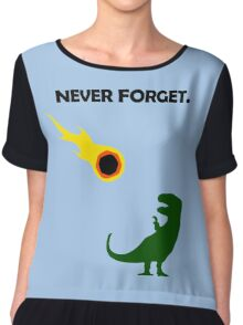 Never Forget (Dinosaurs) Chiffon Top