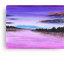 View in Purple Canvas Print
