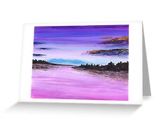 View in Purple Greeting Card