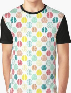 Multi-colored brains of very smart people. Graphic T-Shirt