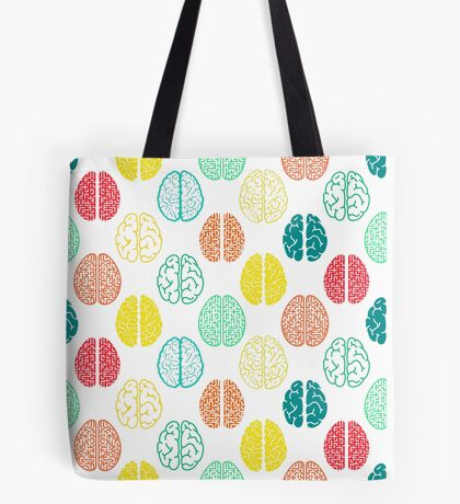 Multi-colored brains of very smart people. Tote Bag
