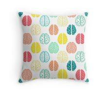 Multi-colored brains of very smart people. Throw Pillow