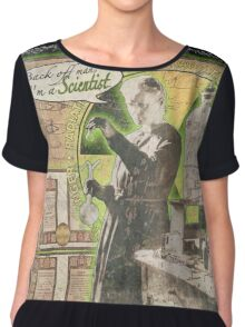 Popular Science: Marie Curie (distressed) Chiffon Top