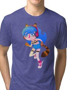 Raccoon Girl Tri-blend T-Shirt