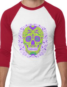 ORNATE MEXICAN SKULL-2 Men's Baseball ¾ T-Shirt
