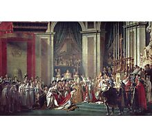 Vintage famous art - Jacques-Louis David - The Consecration Of The Emperor Napoleon And The Coronation Of The Empress Josephine  Photographic Print