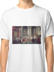 Vintage famous art - Jacques-Louis David - The Consecration Of The Emperor Napoleon And The Coronation Of The Empress Josephine  Classic T-Shirt