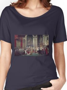 Vintage famous art - Jacques-Louis David - The Consecration Of The Emperor Napoleon And The Coronation Of The Empress Josephine  Women's Relaxed Fit T-Shirt