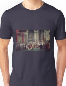 Vintage famous art - Jacques-Louis David - The Consecration Of The Emperor Napoleon And The Coronation Of The Empress Josephine  Unisex T-Shirt