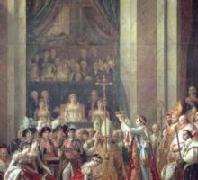 Vintage famous art - Jacques-Louis David - The Consecration Of The Emperor Napoleon And The Coronation Of The Empress Josephine  Sticker