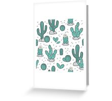 Pattern with cacti Greeting Card