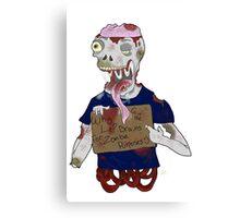Zombie 2 Canvas Print