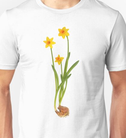 Daffodil on White Unisex T-Shirt