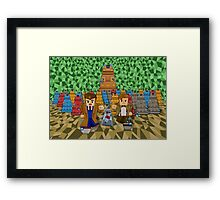 8bit Time traveller vs Robot Droid Dalek Framed Print