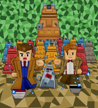 8bit Time traveller vs Robot Droid Dalek Sticker