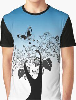 Retro Flowers Graphic T-Shirt