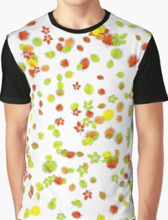 Colorful Fall Leaves Background Graphic T-Shirt